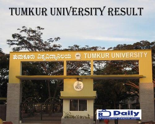 Tumkur University B.Ed Results 2021