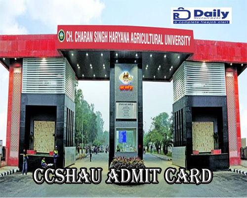 CCSHAU Admit Card 2020