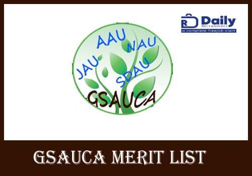 GSAUCA Merit List 2020