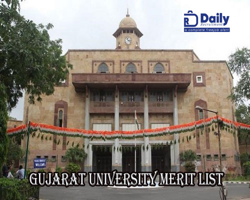 Gujarat University M.Sc Merit List 2020