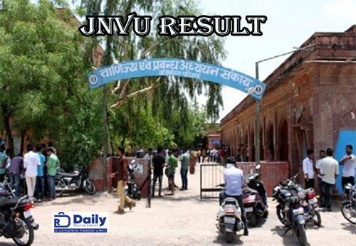 JNVU Revaluation Result 2020
