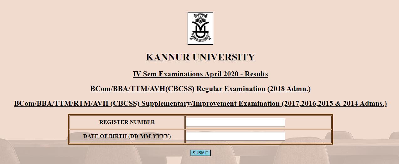 KANNUR UNIVERSITY 4TH SEM RESULT 2020