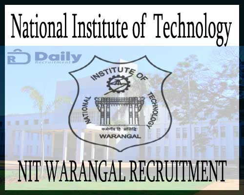 NIT Warangal Recruitment 2020