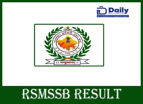 RSMSSB Librarian Result 2020