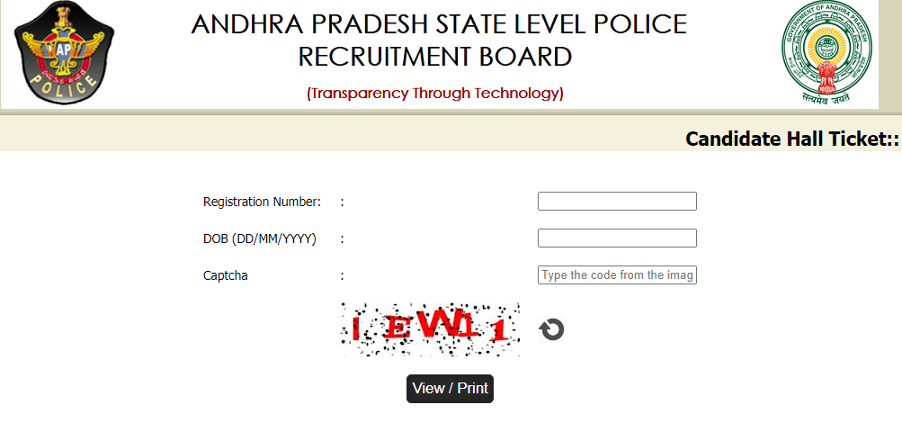 slprb ap admit card 2020