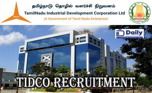 TIDCO Recruitment 2020