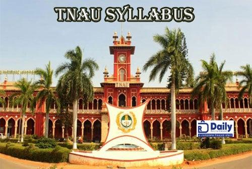 TNAU Syllabus 2020