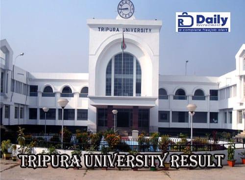 Tripura University Result 2020
