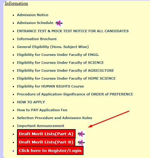 CU PG Merit List 2020
