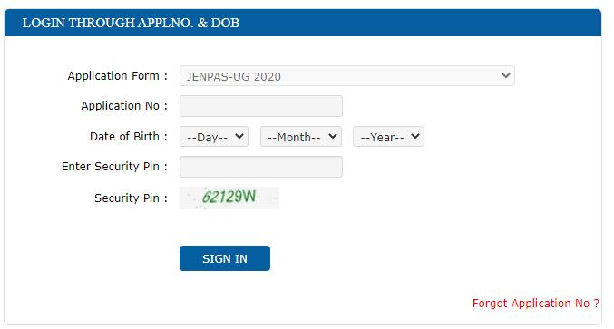 JENPAS UG Merit List 2020