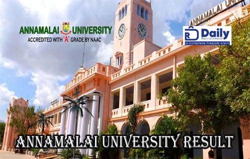 Annamalai University DDE Result 2020