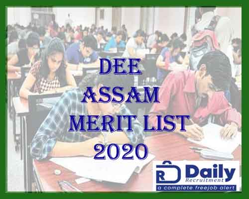 DEE Assam 2nd Merit List 2020