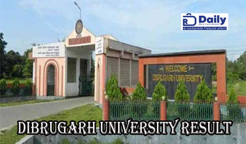 Dibrugarh University BA 6th Sem Result 2020