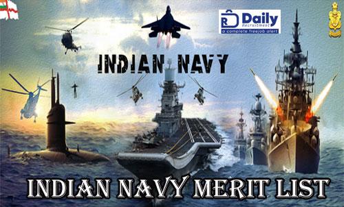 Join Indian Navy Merit List 2020