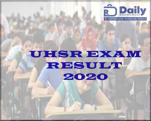 UHSR mbbs Result 2021