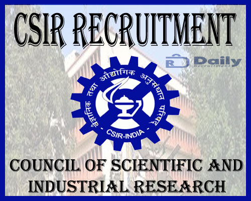 CSIR Recruitment 2021
