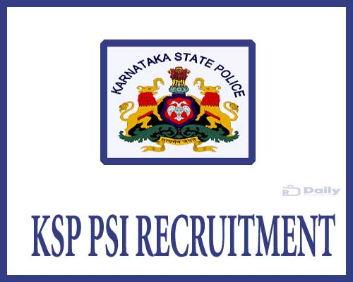 KSP PSI Recruitment 2021