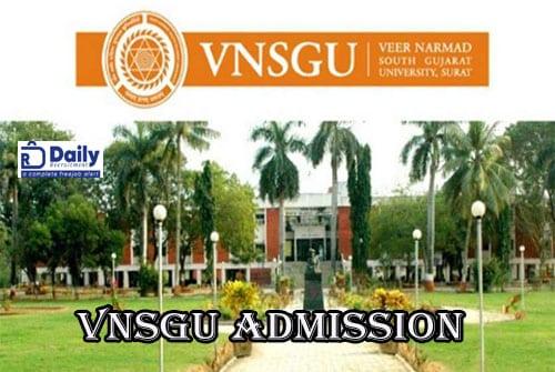 VNSGU PG Merit List 2020