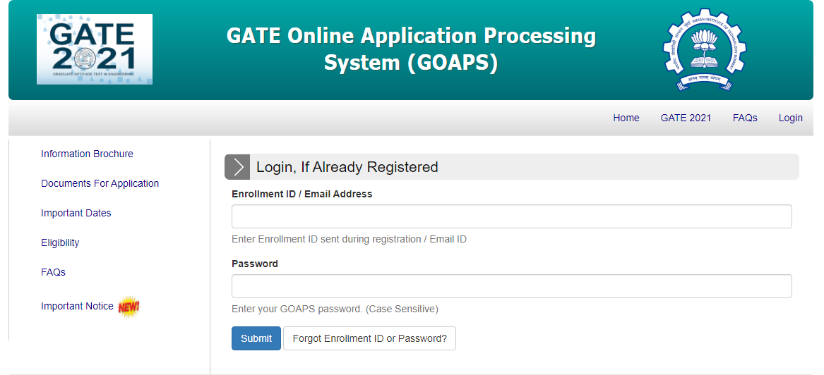 iit gate admit card 2020