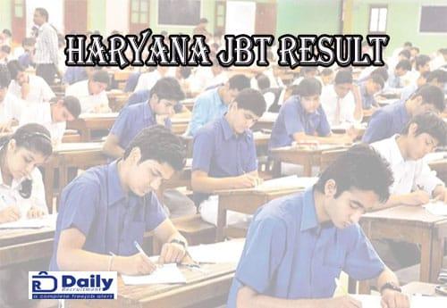 Haryana JBT Result 2020