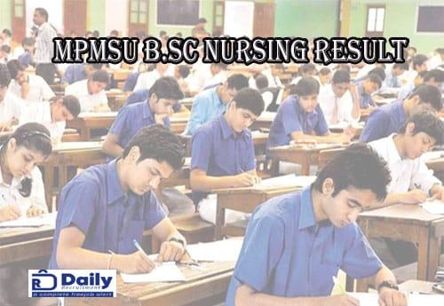 MPMSU B.Sc Nursing Result 2020
