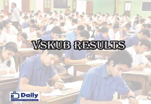 VSKUB 5TH Sem Results 2021