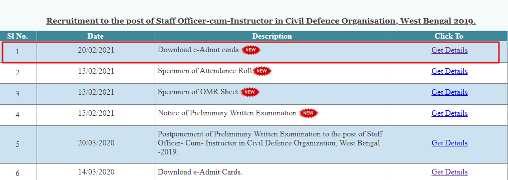 WB POLICE ADMIT CARD 2021