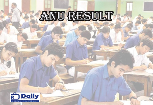 ANU 1st Sem Results 2021