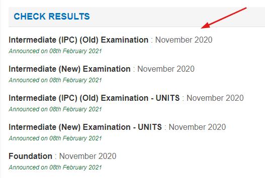 ca ipcc result 2020