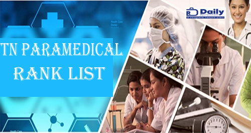 TN Paramedical 2nd Round Rank List 2021