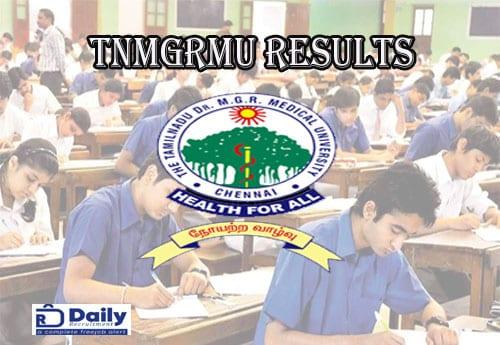 TNMGRMU B.Sc Nursing 3rd Year Result 2021