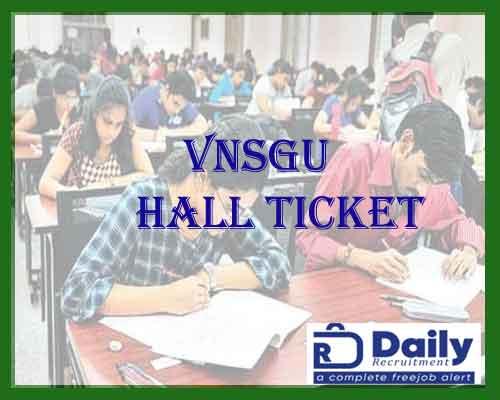 vnsgu B.Com hall ticket 2021