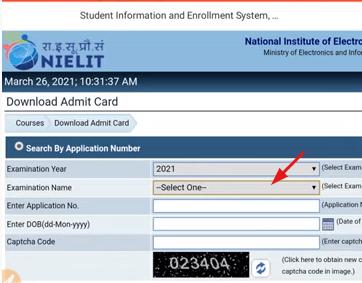 nielit april admit card 2021