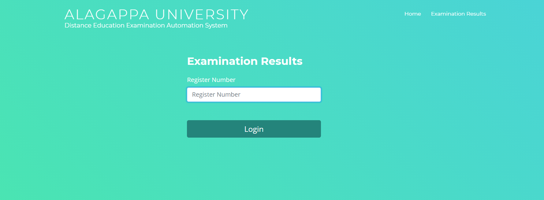 Alagappa University DDE result