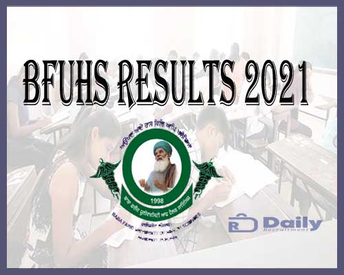 BFUHS BSC First Year Nursing Results 2021