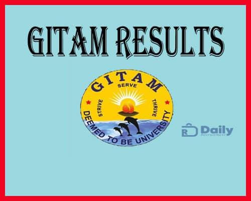 GITAM Entrance Exam Phase 3Results 2021
