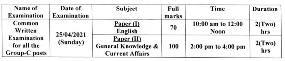JRBT Tripura LDC Admit Card 2021