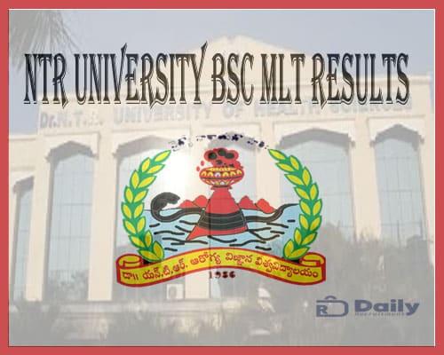 NTR University BSC MLT Results 2021