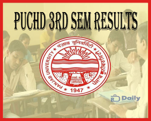 PUCHD 3rd Sem Result 2021