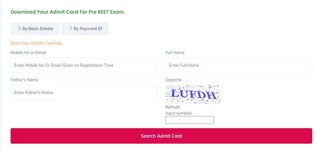 Kalam Academy Pre REET Admit Card 2021