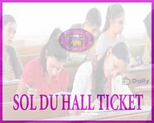 SOL DU Hall Ticket 2021