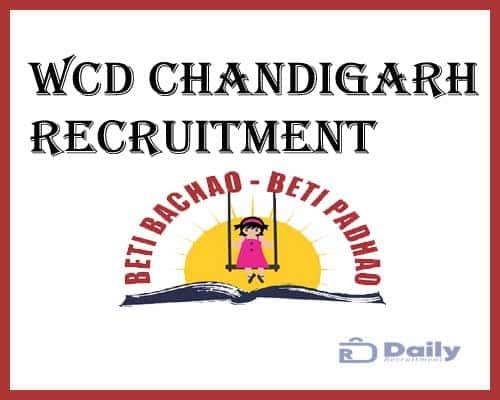 WCD Chandigarh Recruitment 2021