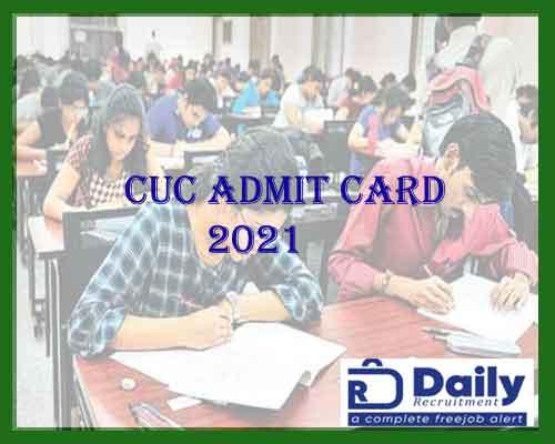 cuc admit card 2021