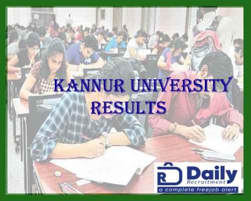 Kannur University 3rd Sem Result 2021