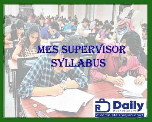 mes supervisor syllabus 2021