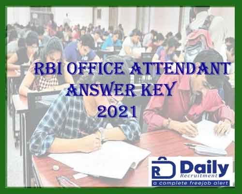 rbi office attendant answer key 2021