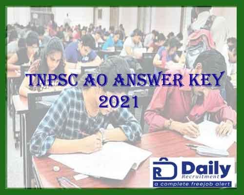 TNPSC AO ANSWER KEY 2021