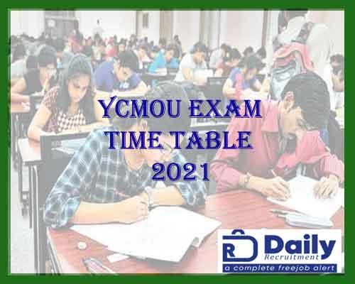 YCMOU Exam Time Table 2021