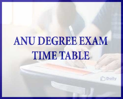 ANU Degree 1st Sem Exam Time Table 2021