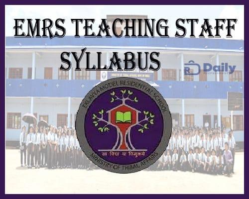 EMRS Teaching Staff Syllabus 2021